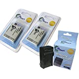 2x Pack - Canon 450D Battery + Charger - Replacement For Canon LP-E5 Digital Camera Battery And Charger (1200mAh...