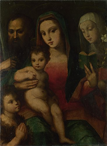 Polyster Canvas ,the High Resolution Art Decorative Canvas Prints Of Oil Painting 'Andrea And Raffaello Del Brescianino The Madonna And Child With Saints ', 8 X 11 Inch / 20 X 28 Cm Is Best For Wall Art Decoration And Home Decoration And Gifts (Carpet Runner For Step Bracket compare prices)