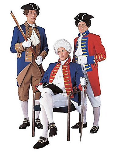 Regency Red, White and Blue Soldier Mens Costume