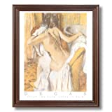Degas French Girl Bath Contemporary Home Decor Wall Picture Cherry Framed Art Print