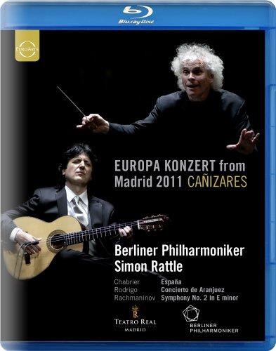 ベルリン・フィル ~ ヨーロッパ・コンサート 2011 (Europa Konzert from Madrid 2011 ~ Chabrier   Rodrigo   Rachmaninov / Berliner Philharmoniker , Simon Rattle , Canizares) [Blu-ray] [輸入盤・日本語解説付]