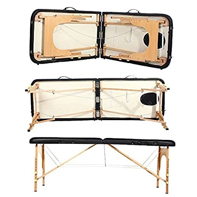"Masione® Portable folding Massage Table 73"" Long 24"" Wide with Carrying Case Face Pillow"