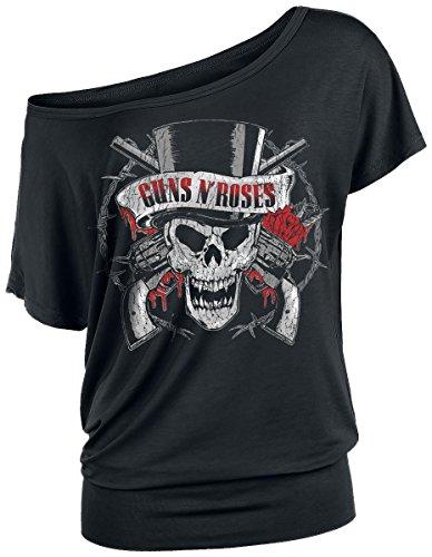 Guns N' Roses Top Hat Skull Maglia donna nero S