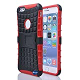 Nancy's Shop Iphone 6 Plus 5.5 Inch [Kickstand] Case,deego New Release [Heavy Duty] Combo Armor Defender [Dual Layer] Grip Case with Prime [Kickstand] for Apple Iphone 6 Plus 5.5'' Screen Smartphone(at&t, Verizon, T-mobile, Sprint,) - (Nancy's Shop Kickstand Case - Red)