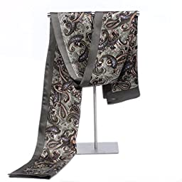 Hip Mall 100% Double Layer Silk Scarves Men Neckerchief