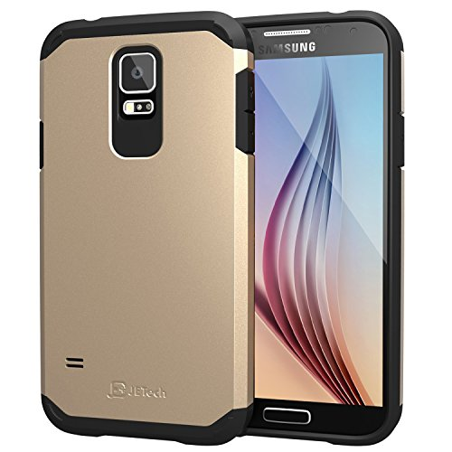S5 Case, JETech Super Protective Samsung Galaxy S5 Case Slim Ultra Fit for Galaxy S5 / Galaxy SV / Galaxy S V (Champagne Gold) - 3012 (Galaxy S5 Protective Case Gold compare prices)