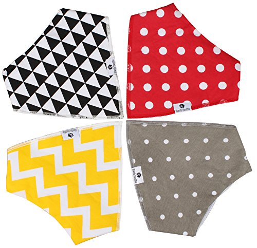 Halloween Day Baby Bandana Drool Bibs by Kevin Textile, Unisex 4-Pack Absorbent Organic Cotton, Best Baby Gift for Boys & Girls (Baby Trend Rain Cover compare prices)