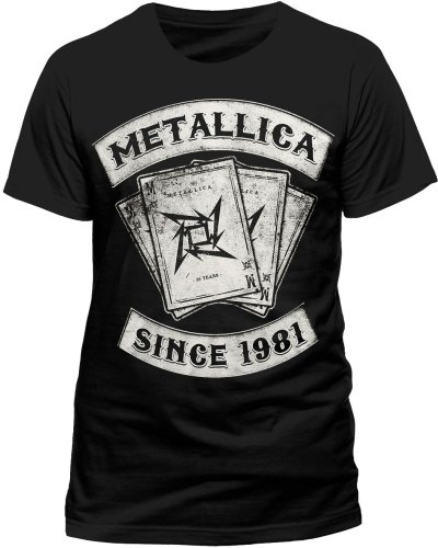 Metallica Men's Dealer Short Sleeve T-Shirt, Black, Large