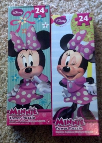 Disney Minnie Mouse Tower Puzzles ~ Set of 2 (24 pieces each)