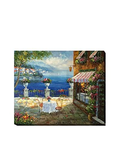 Cafe Italy Oil Painting on Canvas