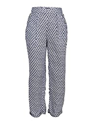 Chicabelle Girls' Jogger Pants (CH-34C_Navy White_7-8 Years)