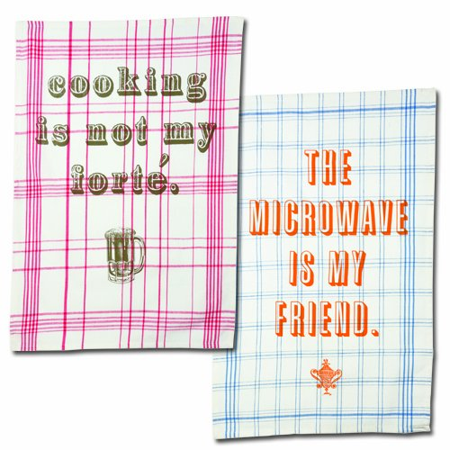 The Microwave Is My Friend Dish Towel