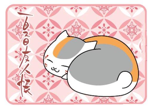 夏目友人帳 ニャンコ先生 フリースひざ掛け おやすみ柄