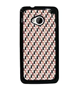 PrintDhaba Pattern D-5922 Back Case Cover for HTC ONE M7 (Multi-Coloured)