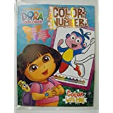 Nickelodeon Dora the Explorer Color By Number Coloring Book. Heat Sealed in Copyrighted Labeled Sleeve by Nickelodeon
