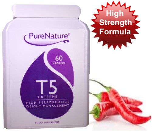 T5 Extreme + Capsicum Fat Burner Diet Slimming pills to help Tone, Tighten and Boost Energy. New Formula Suitable for Vegetarians