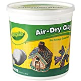 Crayola Air Dry Clay 5 Lb Bucket, White