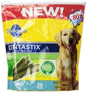 Pedigree Dentastix Fresh Oral Care Treats for Dogs, Large, 1.52-Pound