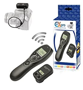Ex-Pro Wireless-Pro RS-80N3 2.4GHz LCD Timer Remote Switch Control for Canon DSLR Cameras [See Description for Models]
