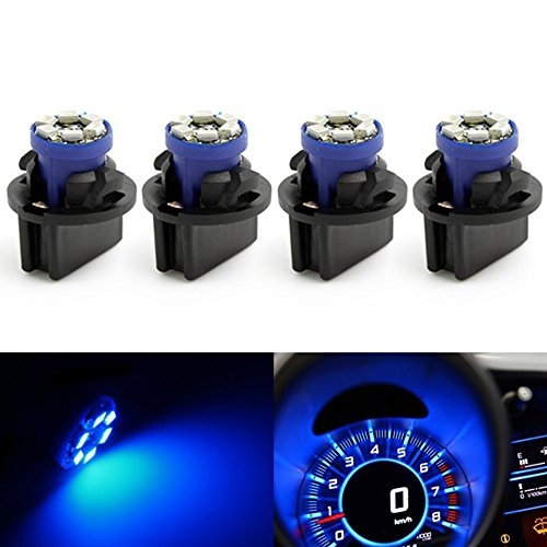 10Pcs Blue LED Dashboard Instrument Panel Indicator Light Bulb Socket For Dodge