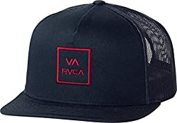 RVCA Men\'s Va All The Way Trucker Hat, Navy Red, One Size