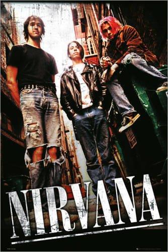 Poster Nirvana - Alley - manifesto risparmio, cartellone XXL in formato 61 x 91.5 cm
