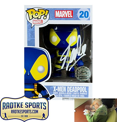 Stan Lee Autographed/Signed Funko Pop Marvel X-Men Deadpool #20 Vinyl Action Figure