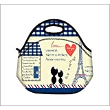 Boweike Insulated Soft Lunch Box Neoprene Food Bag Outdoor Travel Cooler Warm Pouch Tote Handbag For School Work...