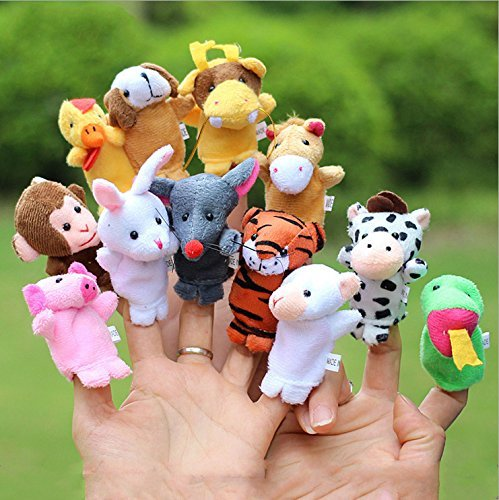 Finger Puppets Chinese Zodiac Animal Zoo 12 Pcs Educational Toy for Kids by Lanlan (Animal Robot For Kids compare prices)