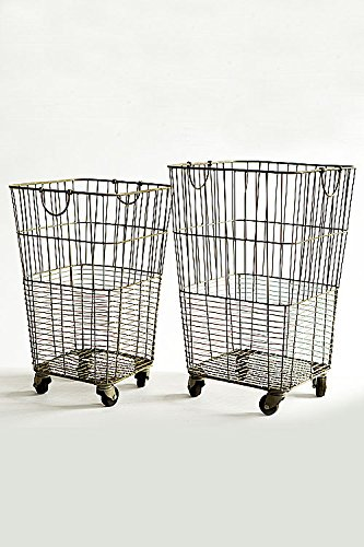 Vagabond-Vintage-Set-of-Two-Rolling-Laundry-Baskets