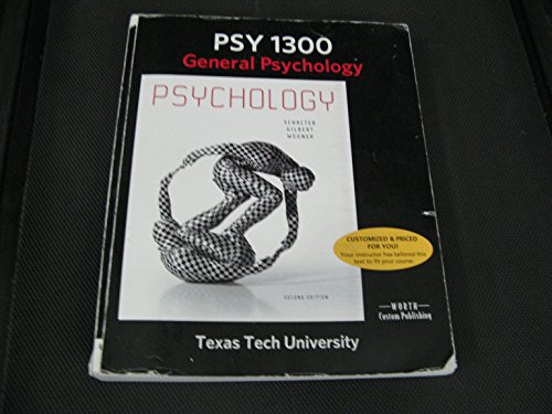 PSY 1300 General Psychology - Custom Edition for T