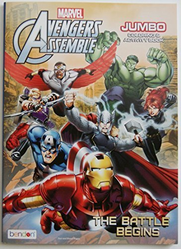 Avengers Assemble Jumbo Coloring and Activity Book - 1