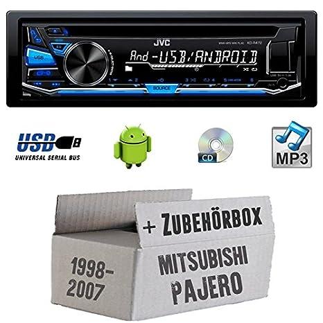 Mitsubishi Pajero bis 2007 - JVC KD-R472E - CD/MP3/USB Autoradio - Einbauset