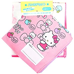 [Hello Kitty]Handkerchief 4 piece set Ribbon