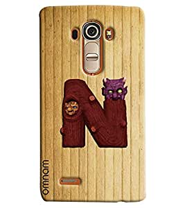 Omnam Single Alphabets N Printed Designer Back Cover Case For LG G4
