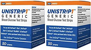 UniStrip Test Strips for Use with Onetouch® Ultra® Meters (100)