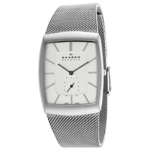 Skagen Designs Men's Matte Steel Analogue Watch 915XLSSS With Silver Dial