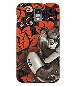 PrintDhaba Music Girl D-4115 Back Case Cover for SAMSUNG GALAXY S5 (Multi-Coloured)
