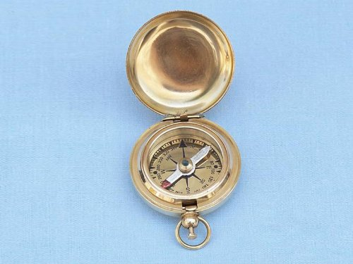 Scout's Brass Push Button Compass 2