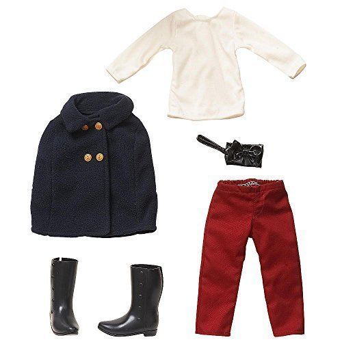 Journey Girls 18 inch Doll Fashion Outfit - White Shirt, Navy Cape Coat, & Burgundy Pants by Toys R Us