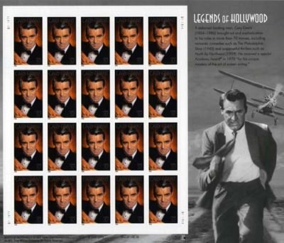 Gary Grant 20 x 37 Cent U.S. Postage Stamps 2002