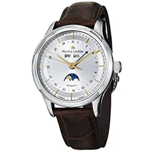 Maurice Lacroix Men's LC6068-SS001132 Les Classiqu Silver Moon Phase Dial Watch by Maurice Lacroix