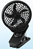 O2 Cool 5 Inch Battery Operated Clip Fan