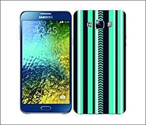 Galaxy Printed 2637 Printed Stripes Blue&purple Hard Cover for Samsung ACE 3 (7272)