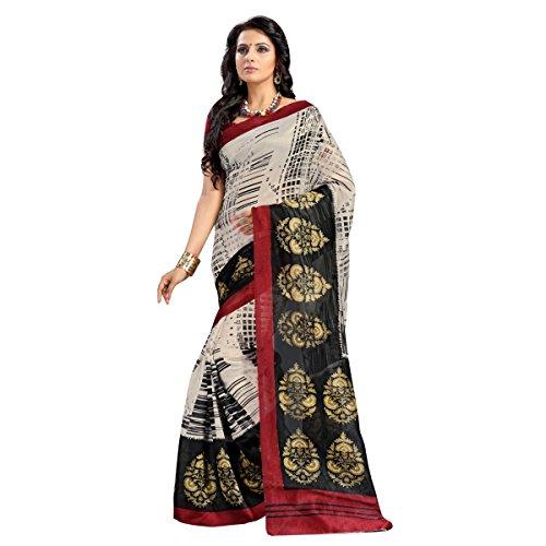 Aagaman Fashion Jute Silk Sarees (TSAMSJS1005_Cream)