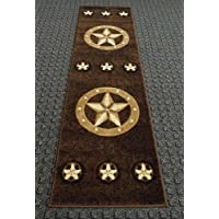 Texas Style Rug Runner 2 Feet X 7 Feet 3 Inch #78 Chocolate Skinz