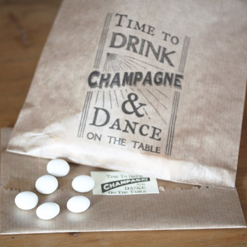 East of India Brown Bags Time To Drink Champagne & Dance on the Table x 40