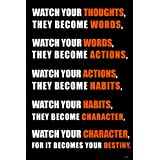Shopolica Watch Your Thoughts Quotes Poster (Quotes-2393)