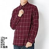 コムサコミューン(COMMECACOMMUNE)へリンボンオルタネイトチェックシャツ【ワイン(12)/S】