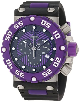Invicta Men's 10042 Subaqua Nitro Diver Chronograph Black and Purple Dial Watch
